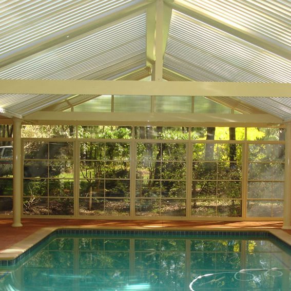 Openable Louvred Roof Pool