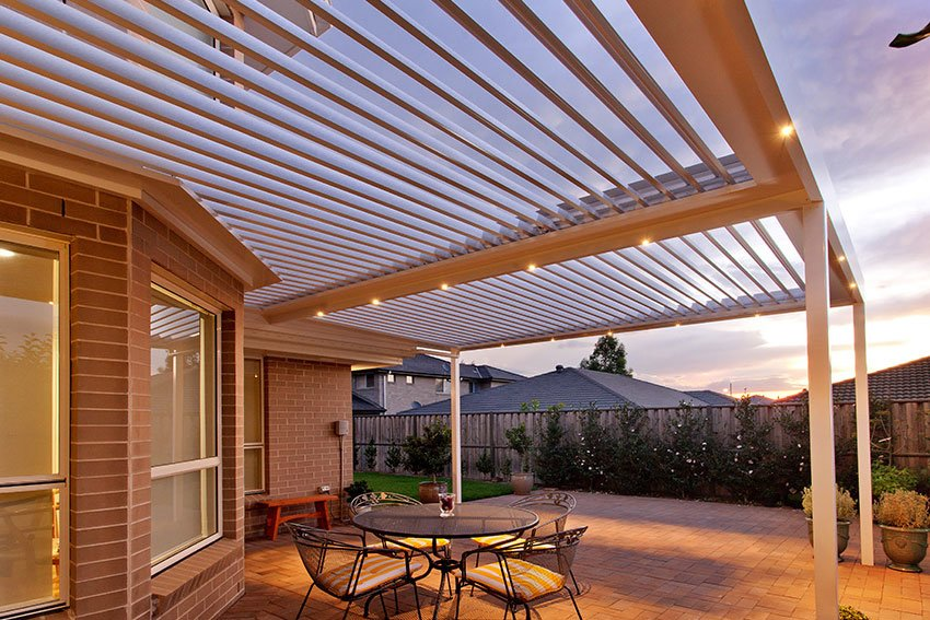 Openable Louvred Roof Patio